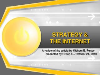 STRATEGY & THE INTERNET