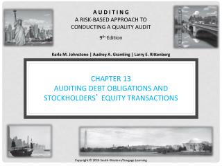CHAPTER 13 AUDITING DEBT OBLIGATIONS AND STOCKHOLDERS '  EQUITY TRANSACTIONS