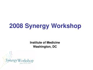 2008 Synergy Workshop