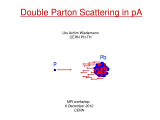 Double Parton Scattering in pA