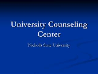 University Counseling Center
