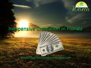 Inexpensive Cremation in Florida