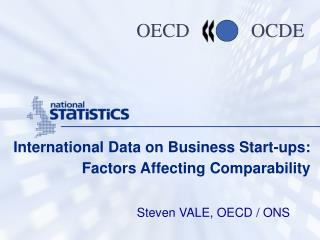 International Data on Business Start-ups: Factors Affecting Comparability