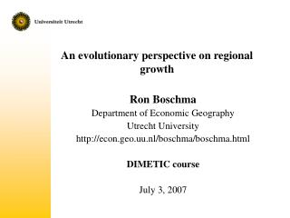 An evolutionary perspective on regional growth
