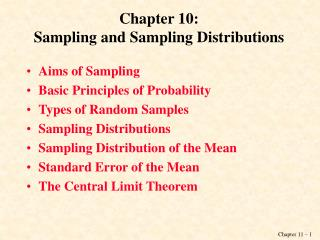 Chapter 10: Sampling and Sampling Distributions
