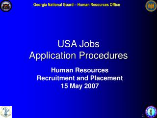 USA Jobs  Application Procedures