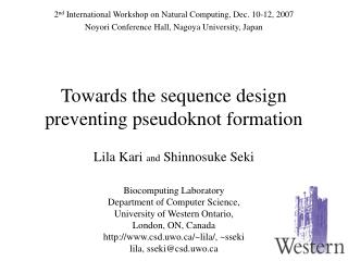 Towards the sequence design preventing pseudoknot formation