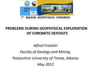 7°   BALKAN  GEOPHYSICAL  CONGRESS