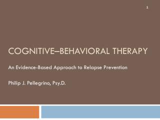 Cognitive–Behavioral Therapy