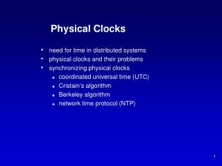 Physical Clocks