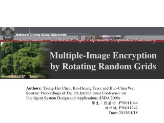Multiple-Image Encryption by Rotating Random Grids