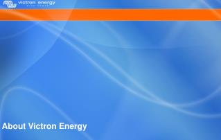 About Victron Energy
