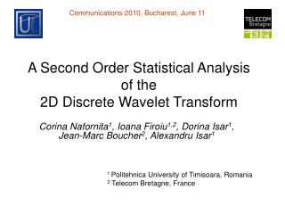 A Second Order Statistical Analysis  of the  2D Discrete Wavelet Transform