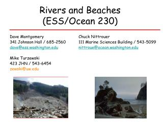 Rivers and Beaches  (ESS/Ocean 230)
