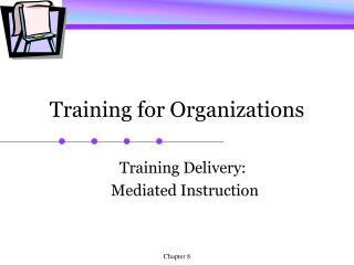 Training for Organizations