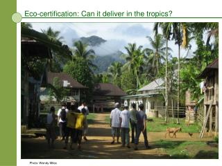 Eco-certification: Can it deliver in the tropics?