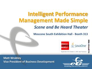Intelligent  Performance Management Made Simple Scene  and Be Heard Theater