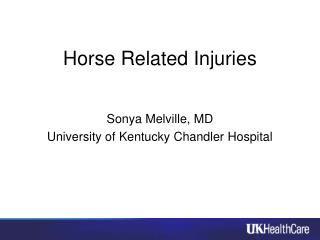 Horse Related Injuries