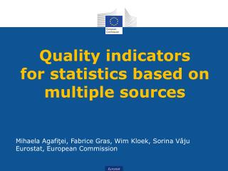 Quality indicators  for statistics based on multiple sources