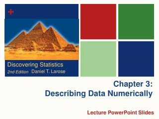 Chapter 3: Describing Data Numerically