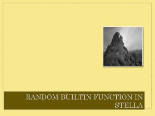 Random  BuiltIn  Function in Stella