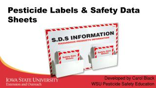 Pesticide Labels & Safety Data Sheets