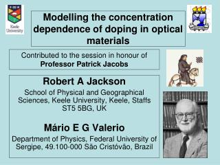 Modelling the concentration dependence of doping in optical materials