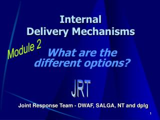 Internal  Delivery Mechanisms