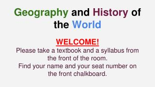 Geography  and  History  of the  World