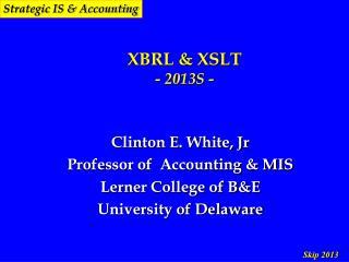 XBRL & XSLT - 2013S -