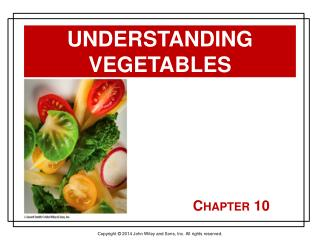 Understanding Vegetables