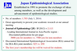 Japan Epidemiological Association