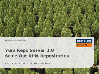 Yum Repo  Server 2.0 Scale  Out RPM  Repositories