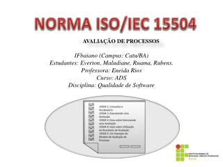 NORMA ISO/IEC 15504