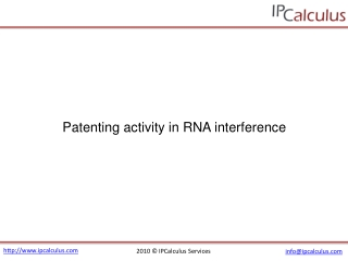 IPCalculus - RNA interference Patenting Activity