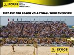 2007 AVP PRO BEACH VOLLEYBALL TOUR OVERVIEW