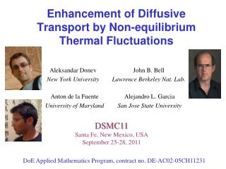 Enhancement of Diffusive Transport by Non-equilibrium Thermal Fluctuations