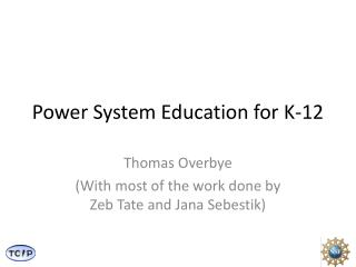 Power System Education for K-12