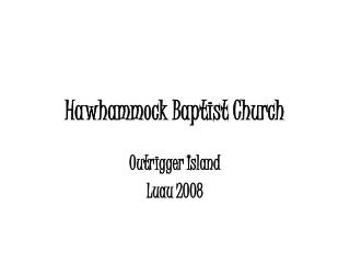 Hawhammock Baptist Church
