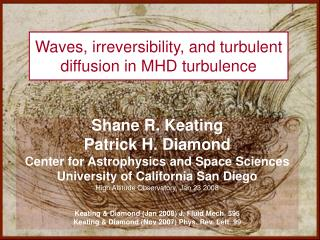 Waves, irreversibility, and turbulent diffusion in MHD turbulence
