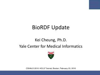BioRDF Update