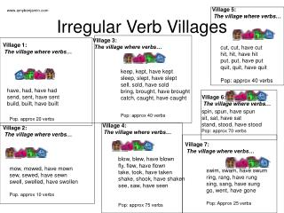 Irregular Verb Villages