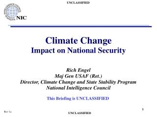 Climate Change Impact on National Security