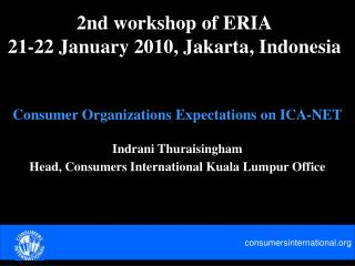 2nd workshop of ERIA 21-22 January 2010, Jakarta, Indonesia