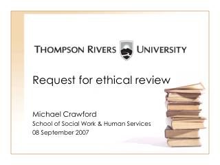 Request for ethical review