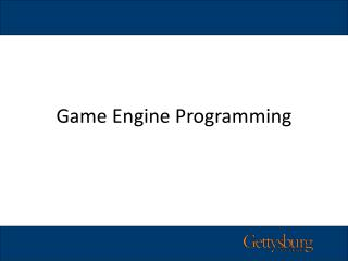 Game Engine Programming