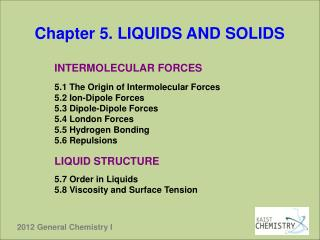 Chapter 5. LIQUIDS AND SOLIDS