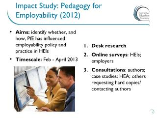 Impact Study: Pedagogy  for Employability (2012)