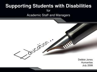 Supporting Students with Disabilities