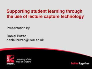 Supporting student learning through the use of lecture capture technology